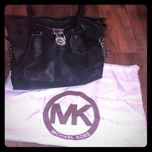 Michael Kors Black Handbag with Silver Hardware!